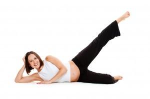 pilates en zwangerschap beenlift