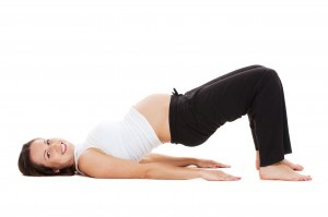 pilates zwangerschap bridge pose