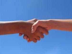 handen geven